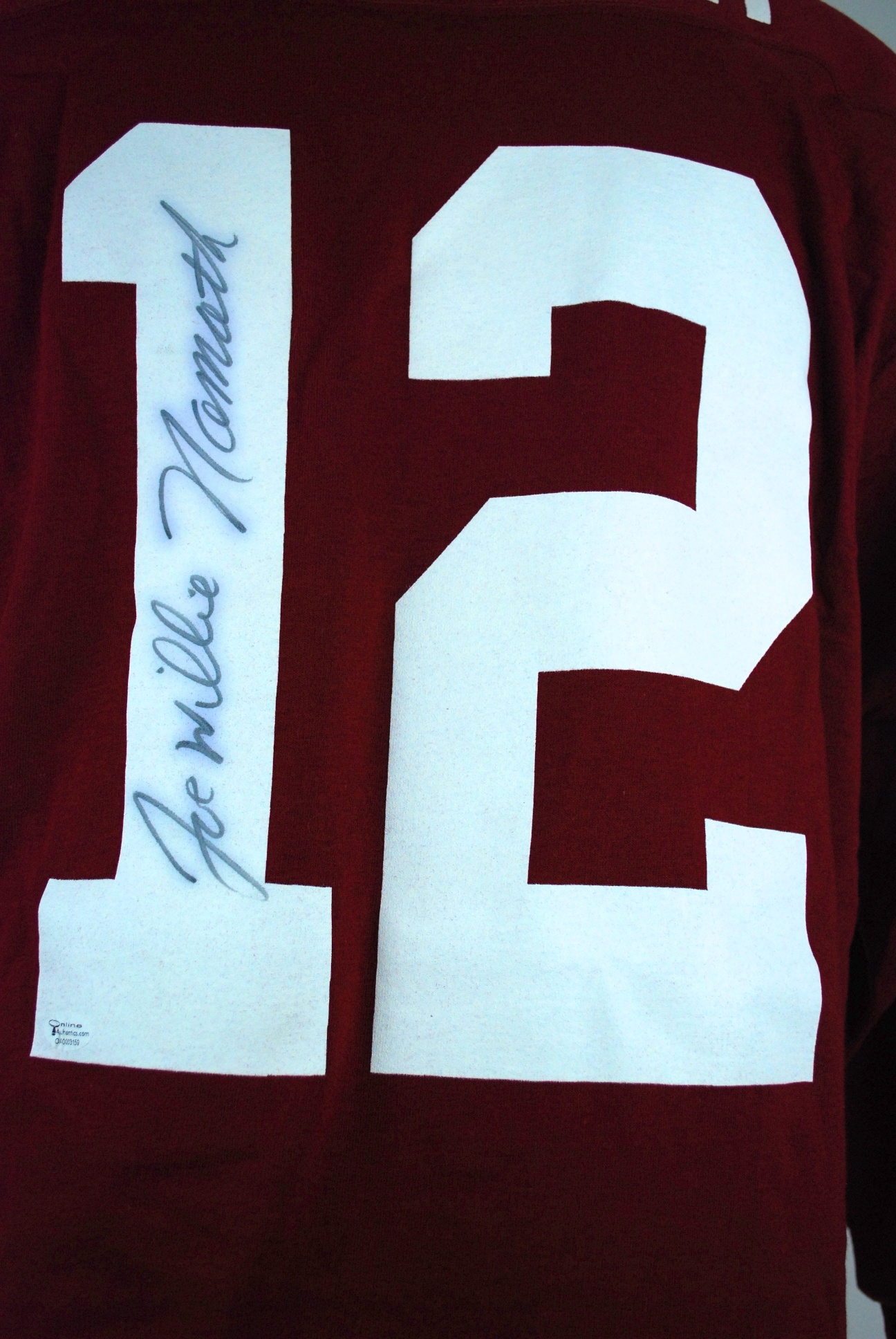 watch edb22 f10fc Lot Detail - Joe Namath Autographed Alabama Jersey