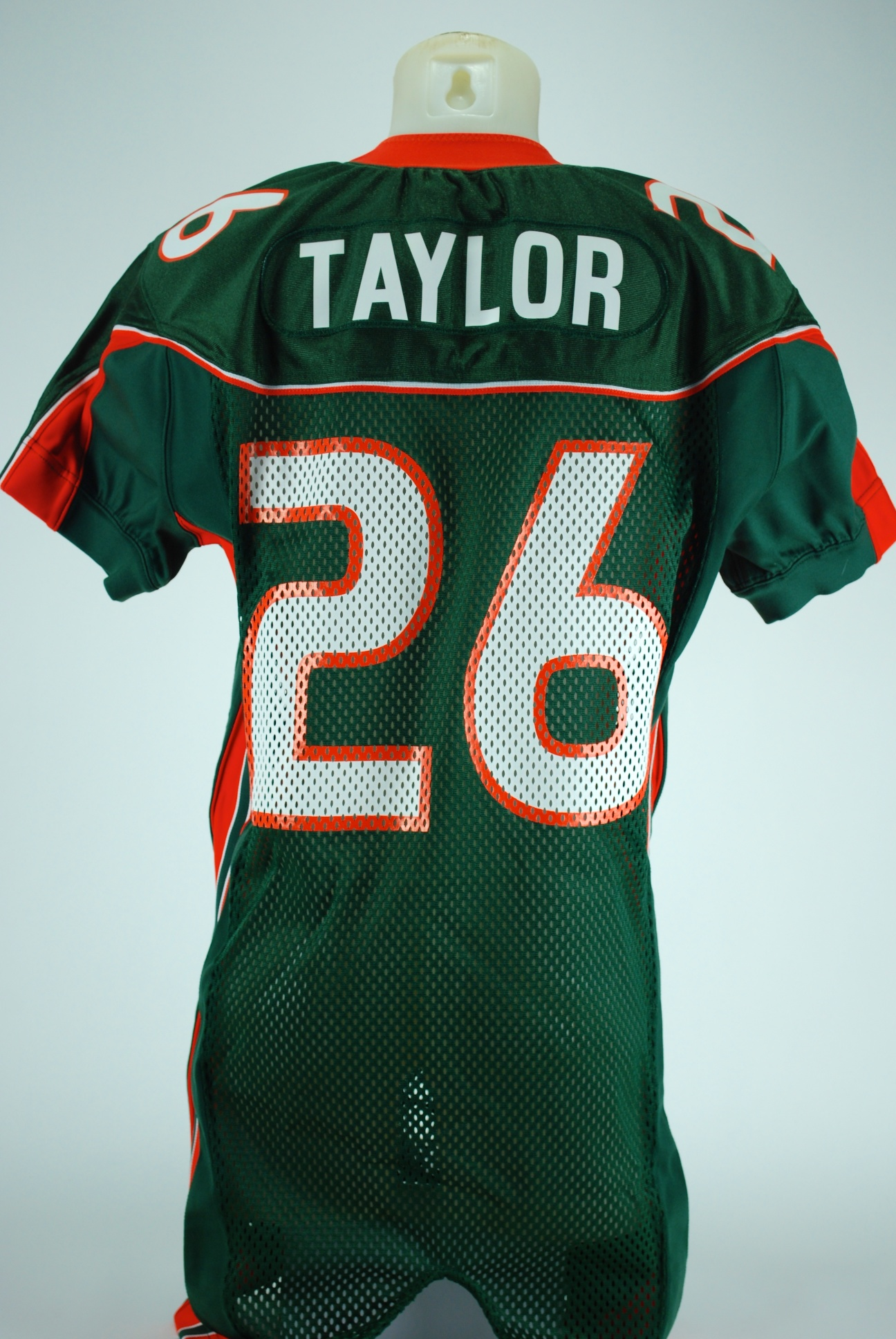 the best attitude 2609a acfd0 Lot Detail - Sean Taylor Game Used Miami Hurricane Jersey GU 8.5