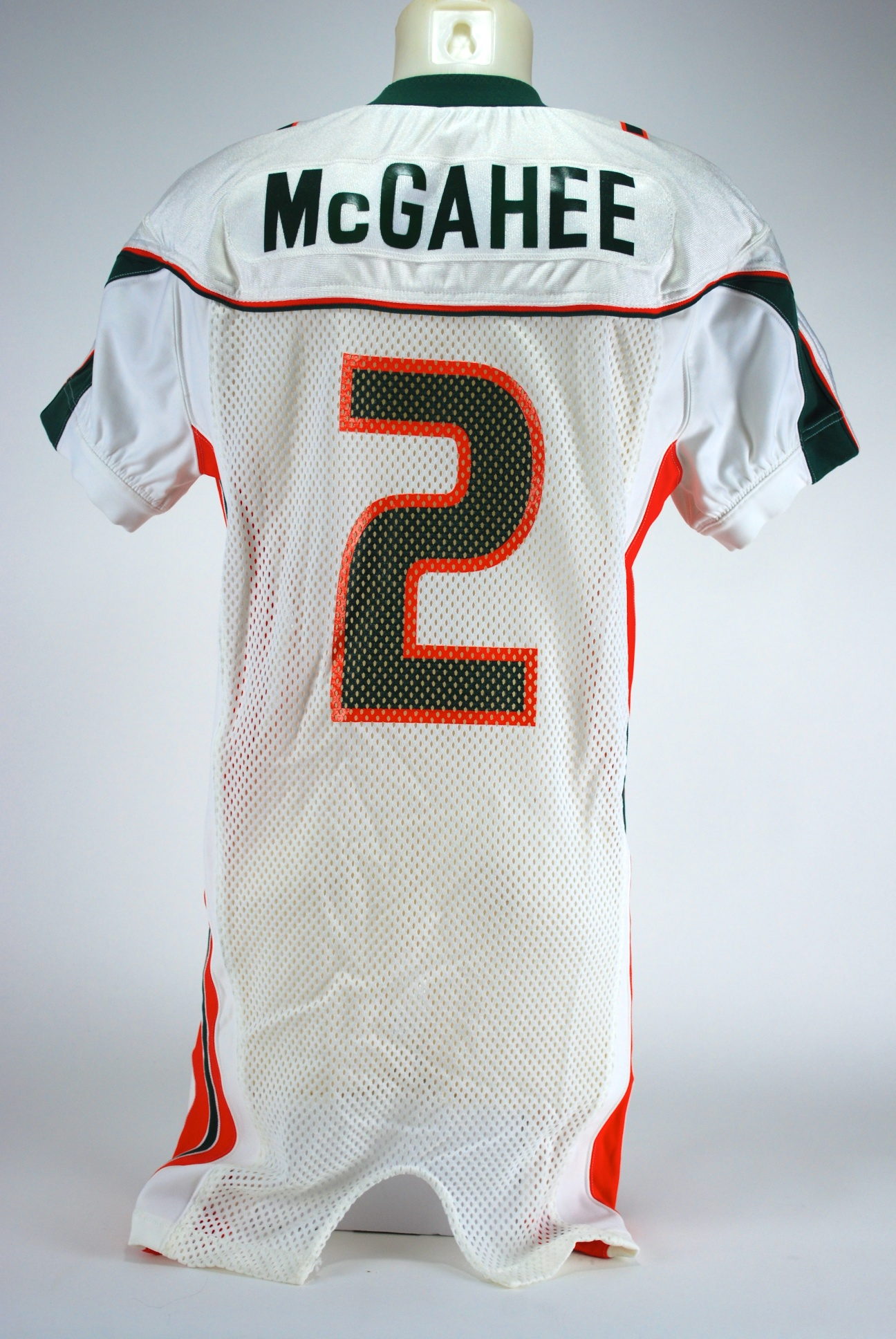 huge selection of 0b2f6 dc83d Lot Detail - Willis McGahee Game Used Miami Hurricanes Jersey