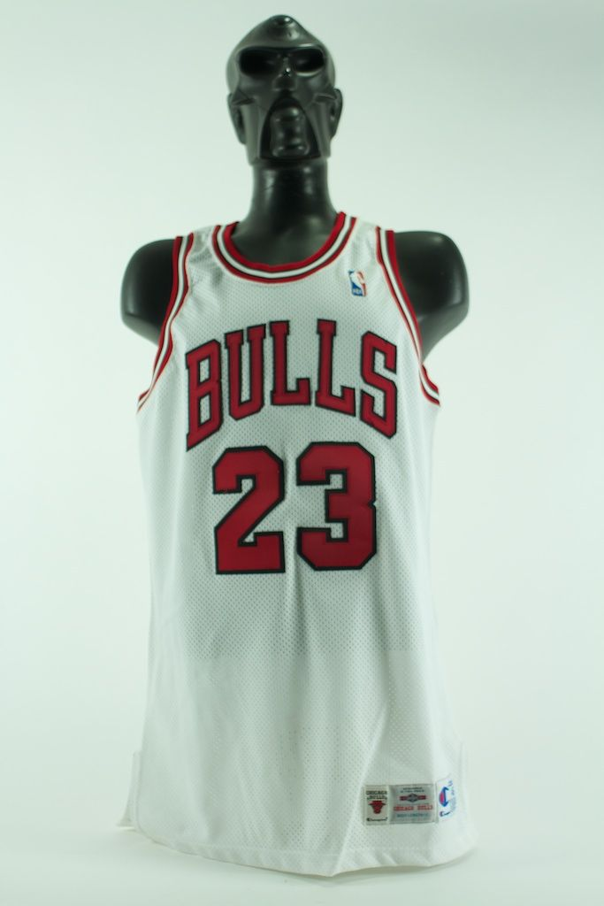 premium selection 013bc 5f0a3 Lot Detail - Michael Jordan 1995-1996 Game Used Chicago ...