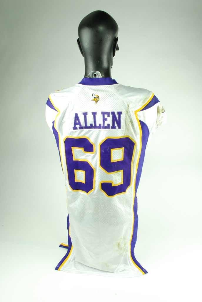 competitive price 0a47c 67e44 Lot Detail - Jared Allen 2008 Game Used Minnesota Vikings ...