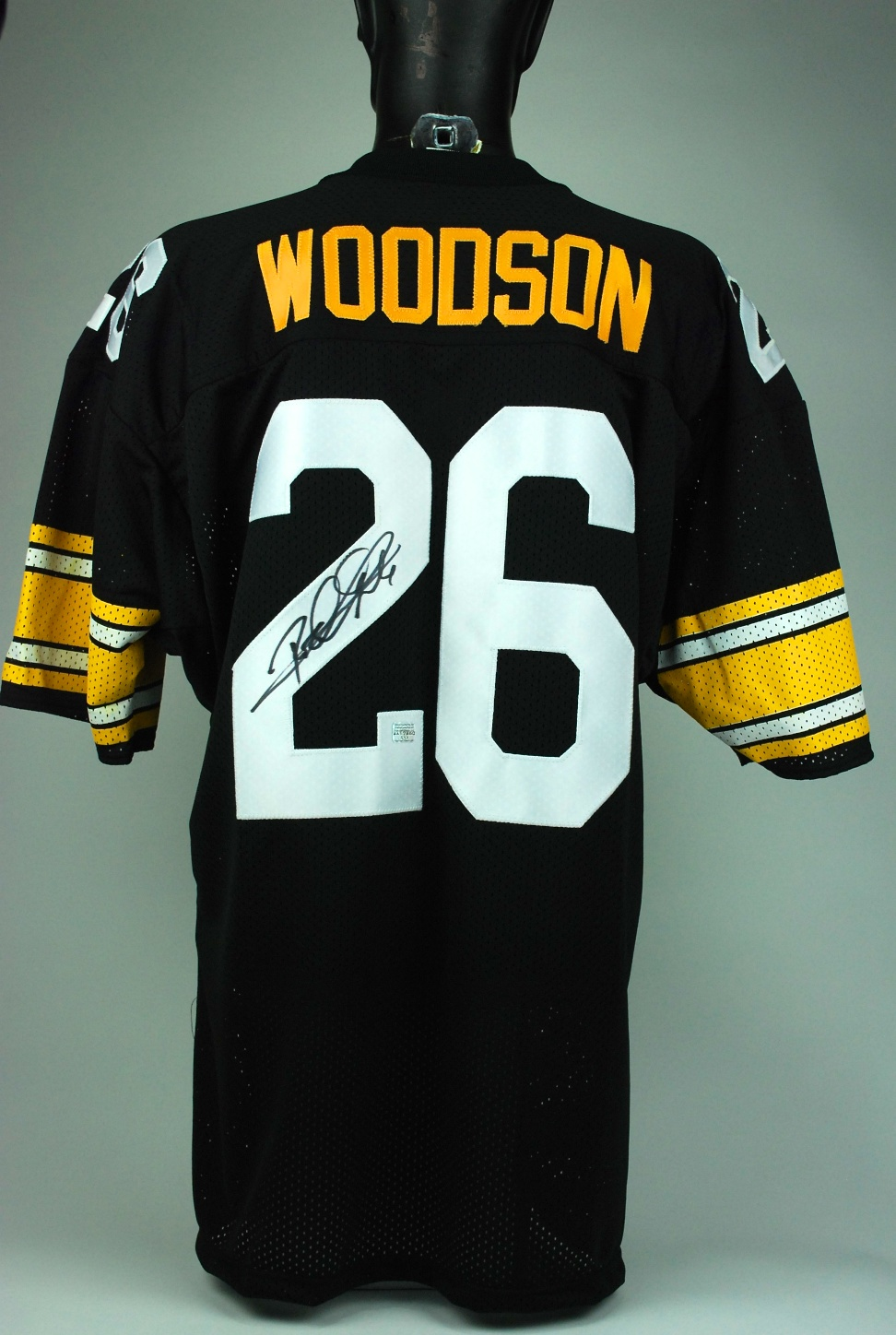 best sneakers 83497 4654c Lot Detail - Rod Woodson Autographed Steelers Jersey