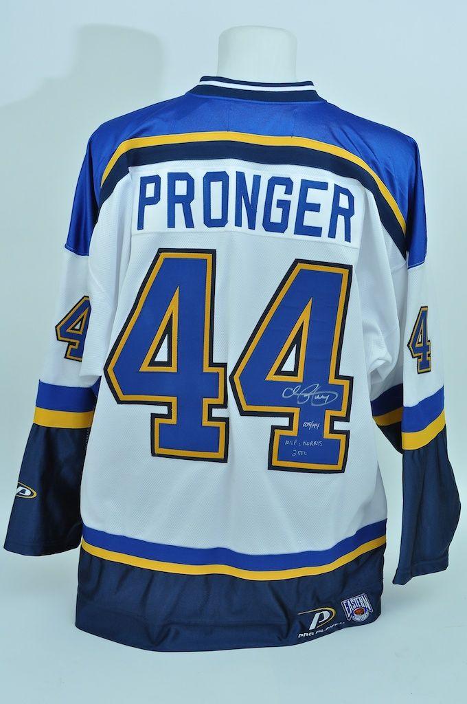Lot Detail - Chris Pronger Autographed St. Louis Blues Jersey 492725a06