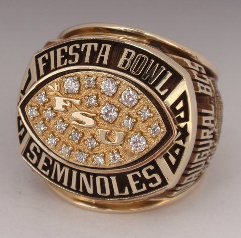 Lot Detail  Matt Carpenter's 1999 Florida St Fiesta Bowl. Geeky Wedding Rings. Big Rings. Hallmark Rings. Rare Earth Wedding Rings. Chocolate Diamond Engagement Rings. Cathedral Cushion Cut Engagement Wedding Rings. 3 Stone Engagement Rings. Brooke Davis Wedding Rings