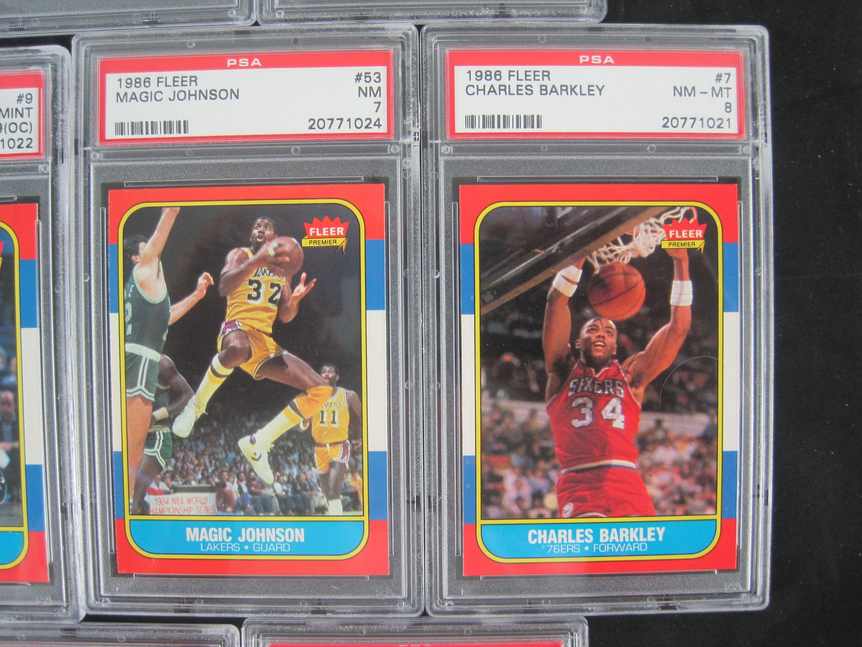 Lot Detail 1986 87 Fleer Basketball Card Set Wmichael