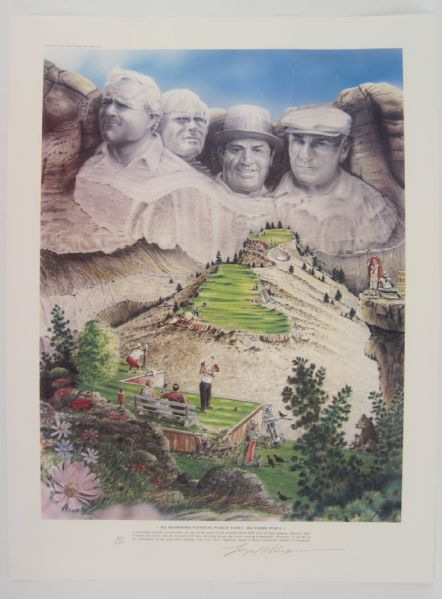 "Bud Chapman ""Mt. Rushmore"" Limited Edition Signed Lithograph"