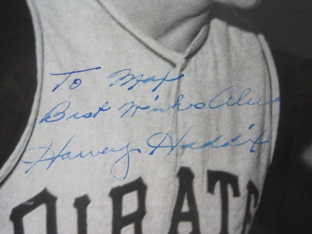 Vintage Lot of 2 Harvey Haddix Signed Pittsburgh Pirates 8x10 Photos
