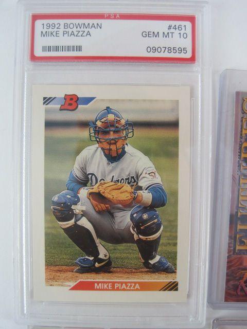 Lot Detail Baseball Card Lot Wmike Piazza 1992 Bowman Psa 10
