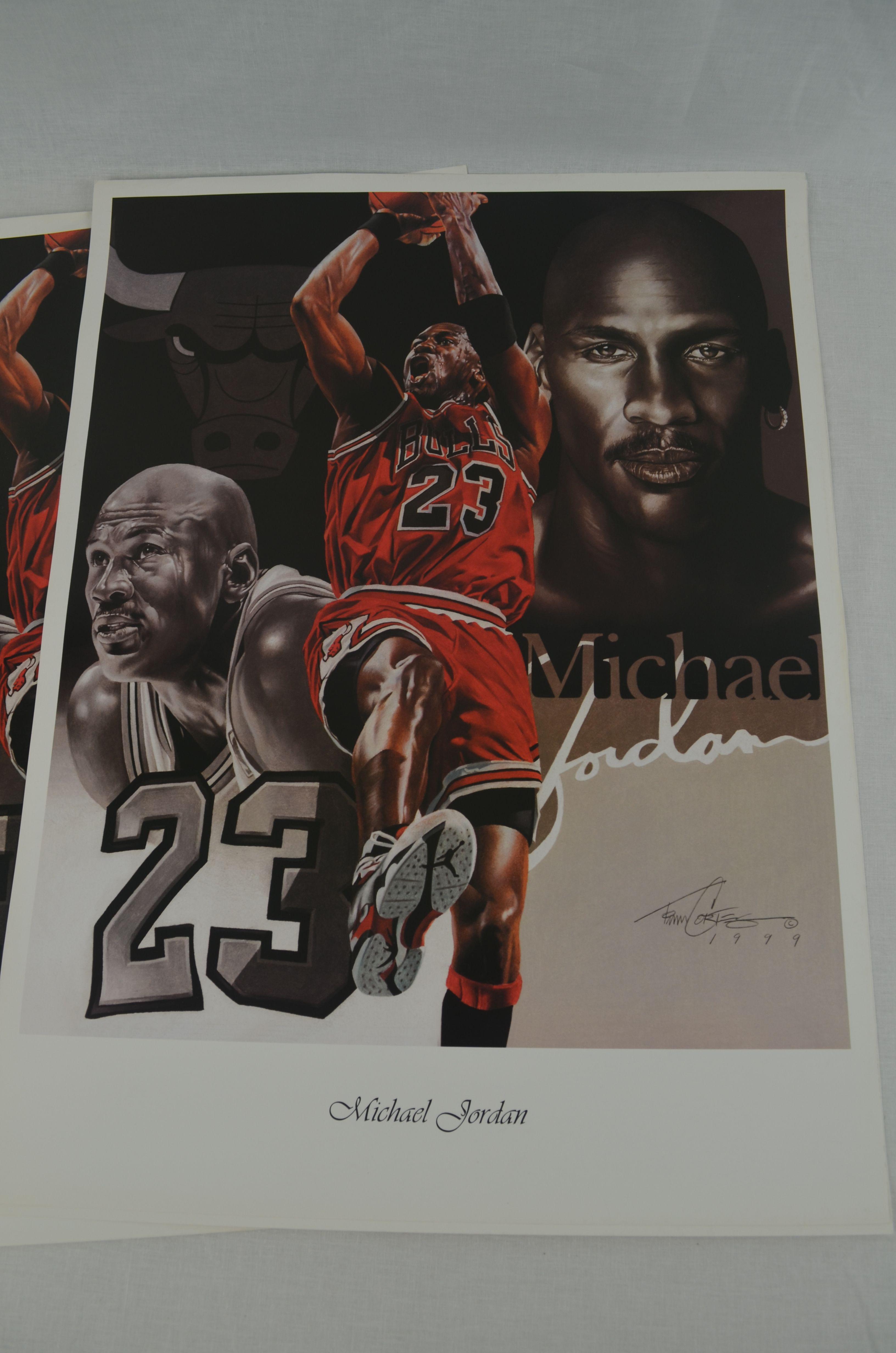 73c9583586f Lot Detail - Michael Jordan Lot of 3 Tim Cortes Fine Art Lithographs ...