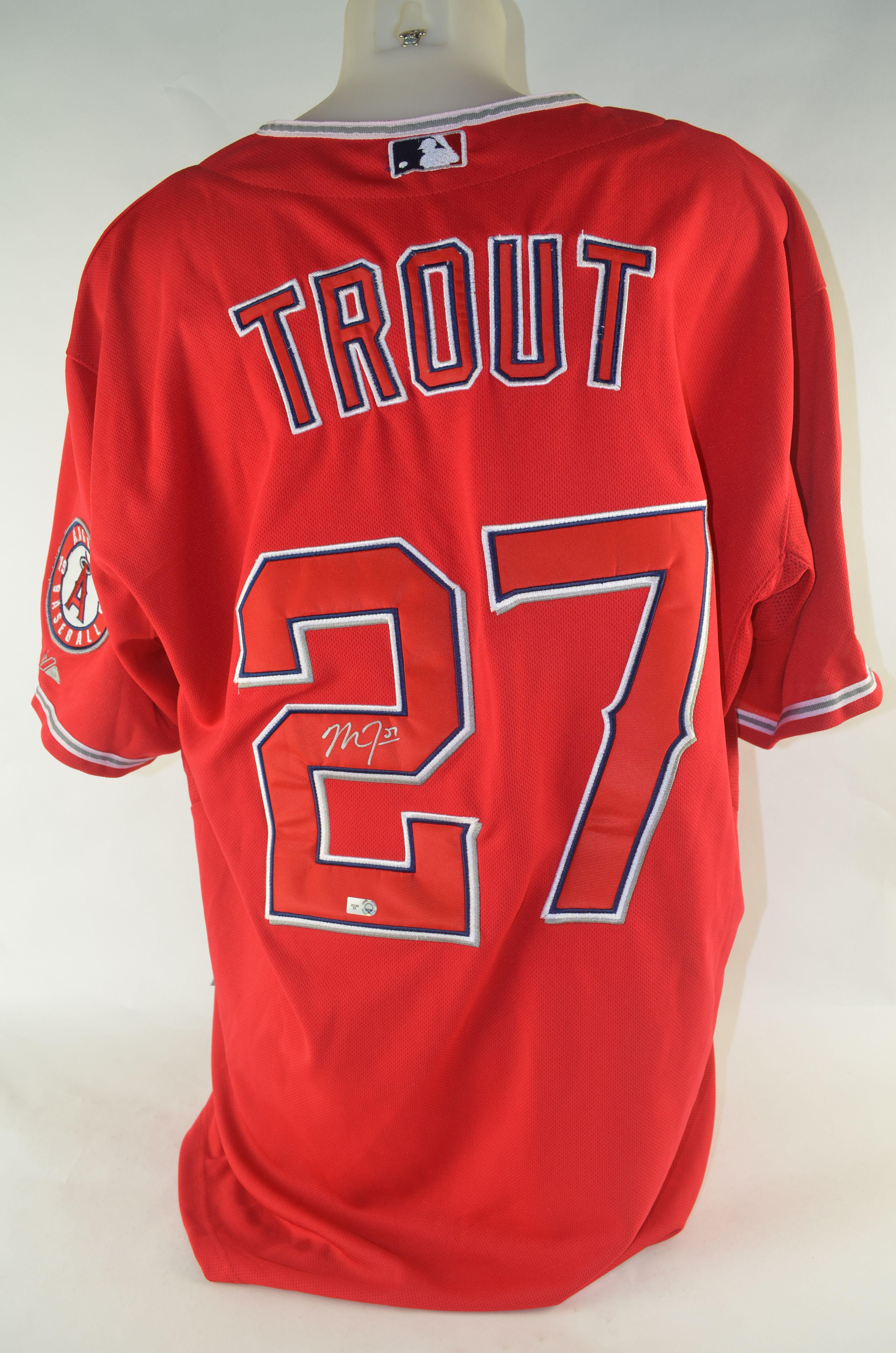 buy popular de38a 79056 Lot Detail - Mike Trout Autographed Jersey
