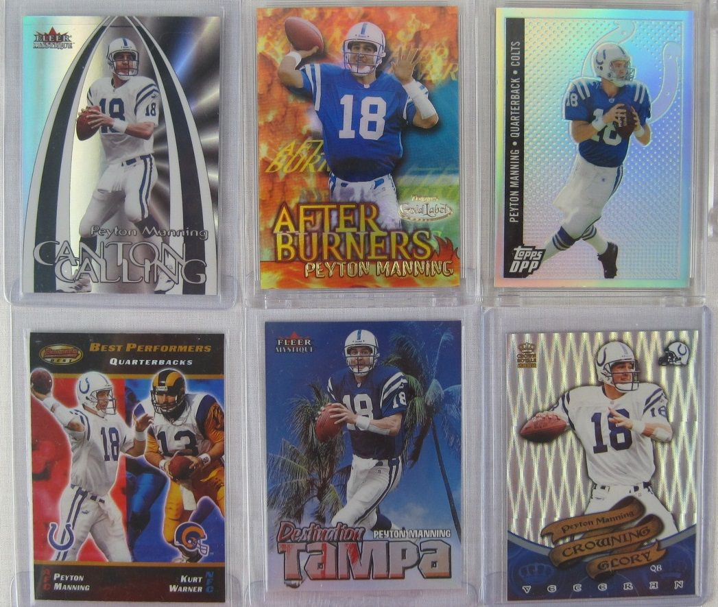 Peyton Manning Collection Of 82 Football Cards