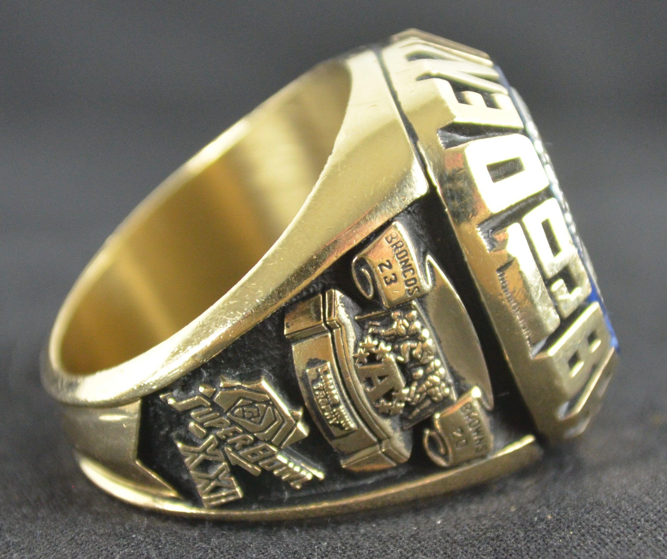 Lot Detail John Elway Super Bowl Xxi 10k Gold Ring W