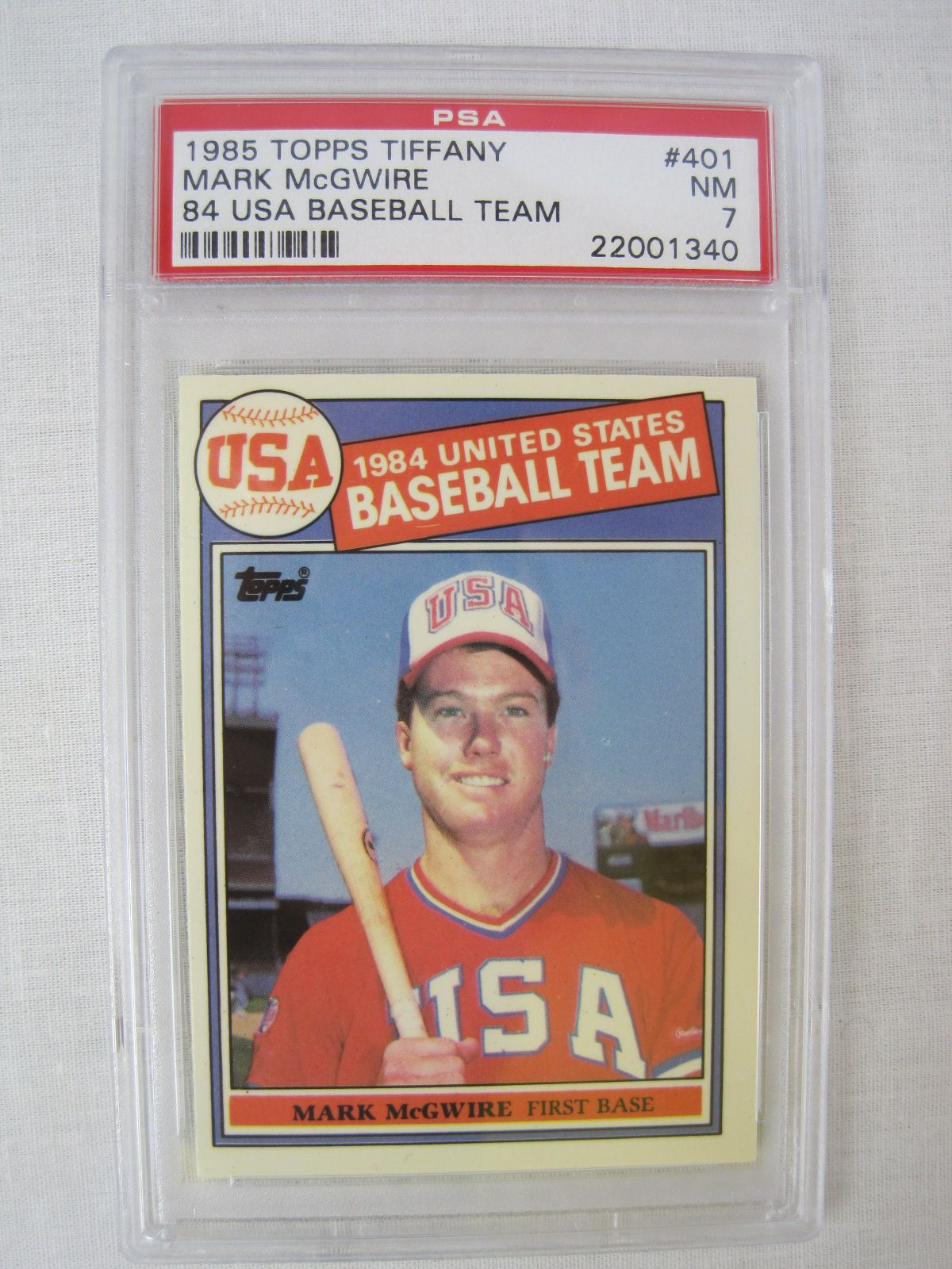 Lot Detail Rare 1985 Topps Tiffany Baseball Card Set Wpsa Graded