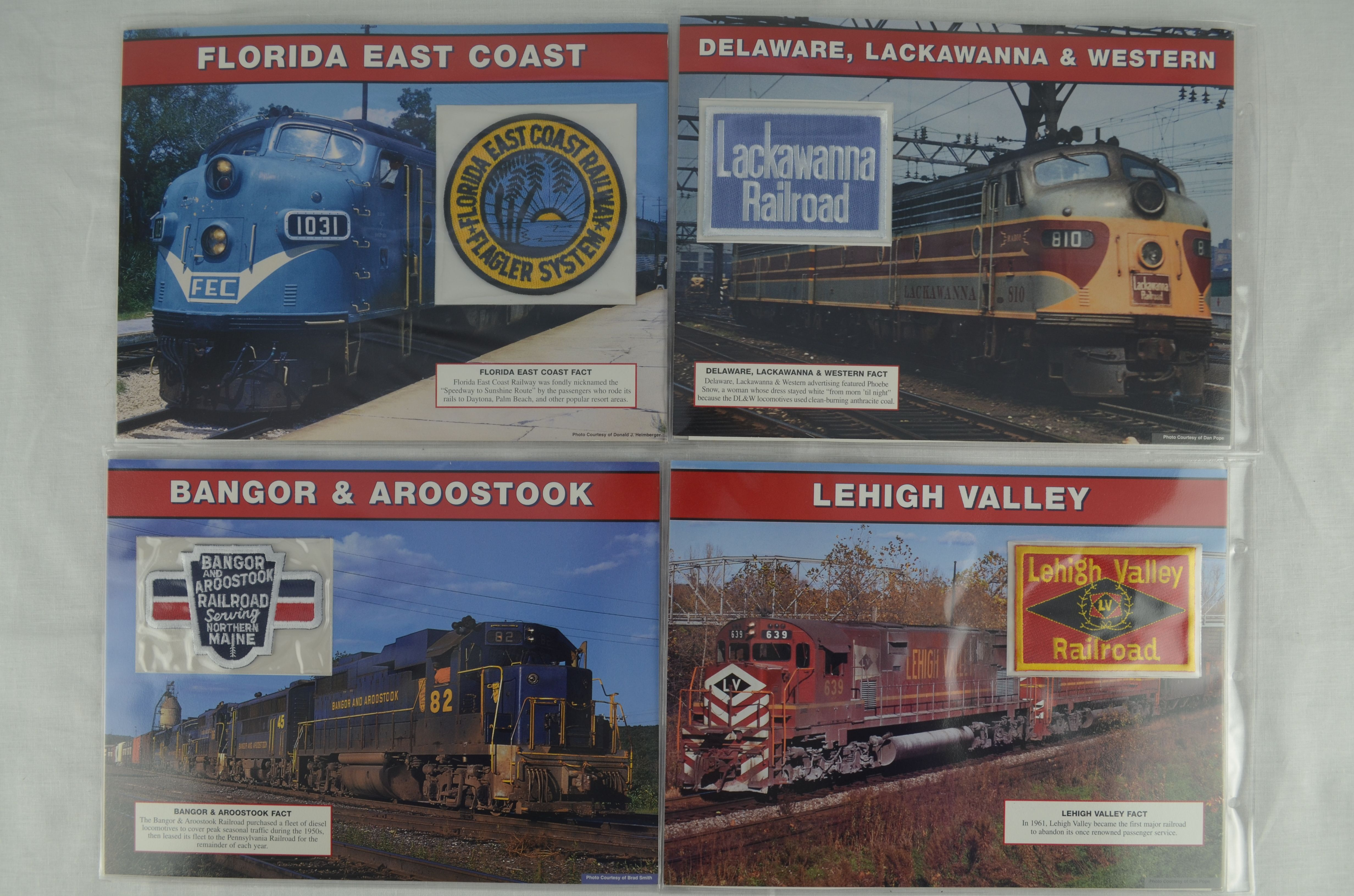 WILLABEE /& WARD ~ GREAT AMERICAN RAILROADS EMBLEM COLLECTION BINDER ~ NO PATCHES
