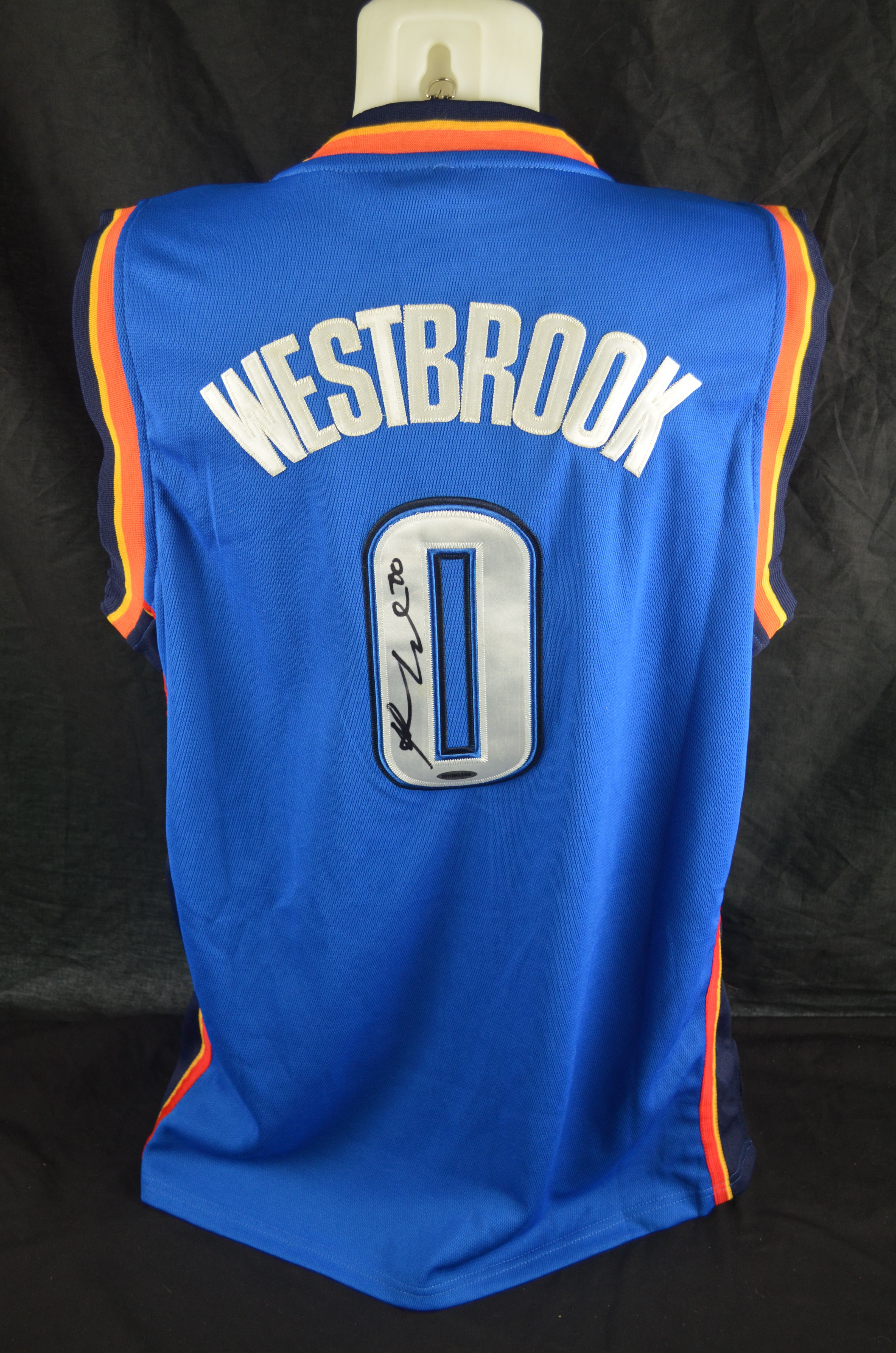 big sale d9611 ddf84 shop russell westbrook signed jersey 8e441 8ff67
