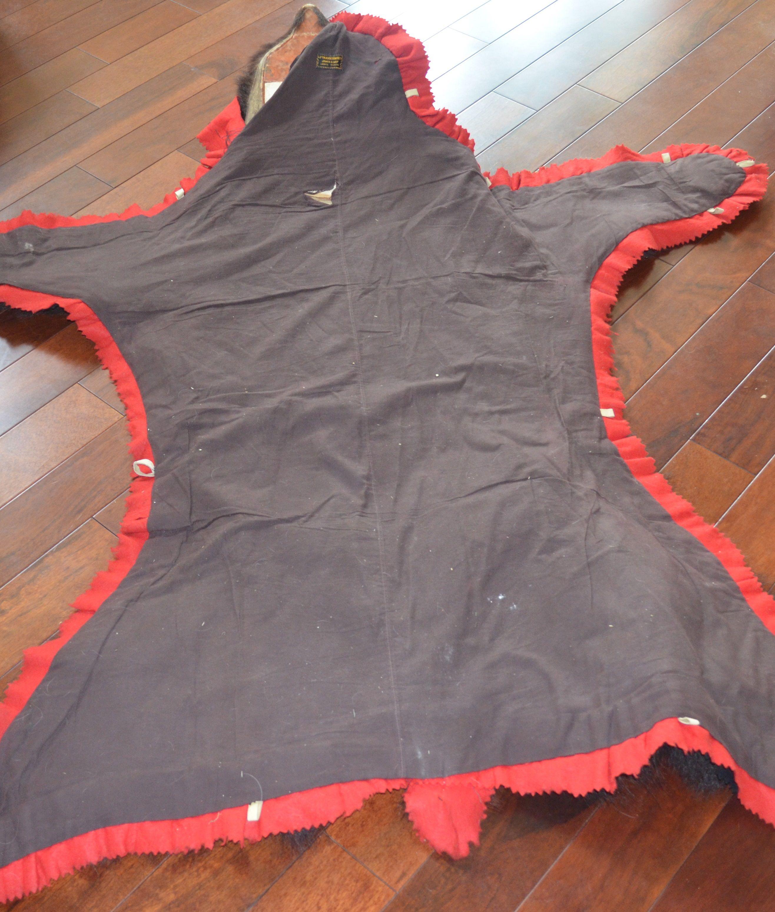 Authentic Vintage Black Bear Skin Rug