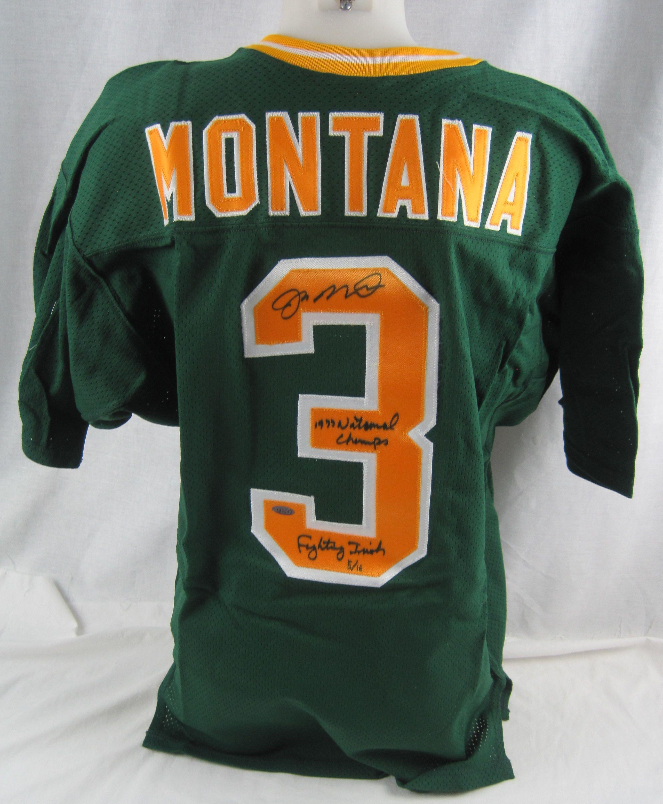 on sale aeb6b 4345a Lot Detail - Joe Montana Autographed Limited Edition Notre ...