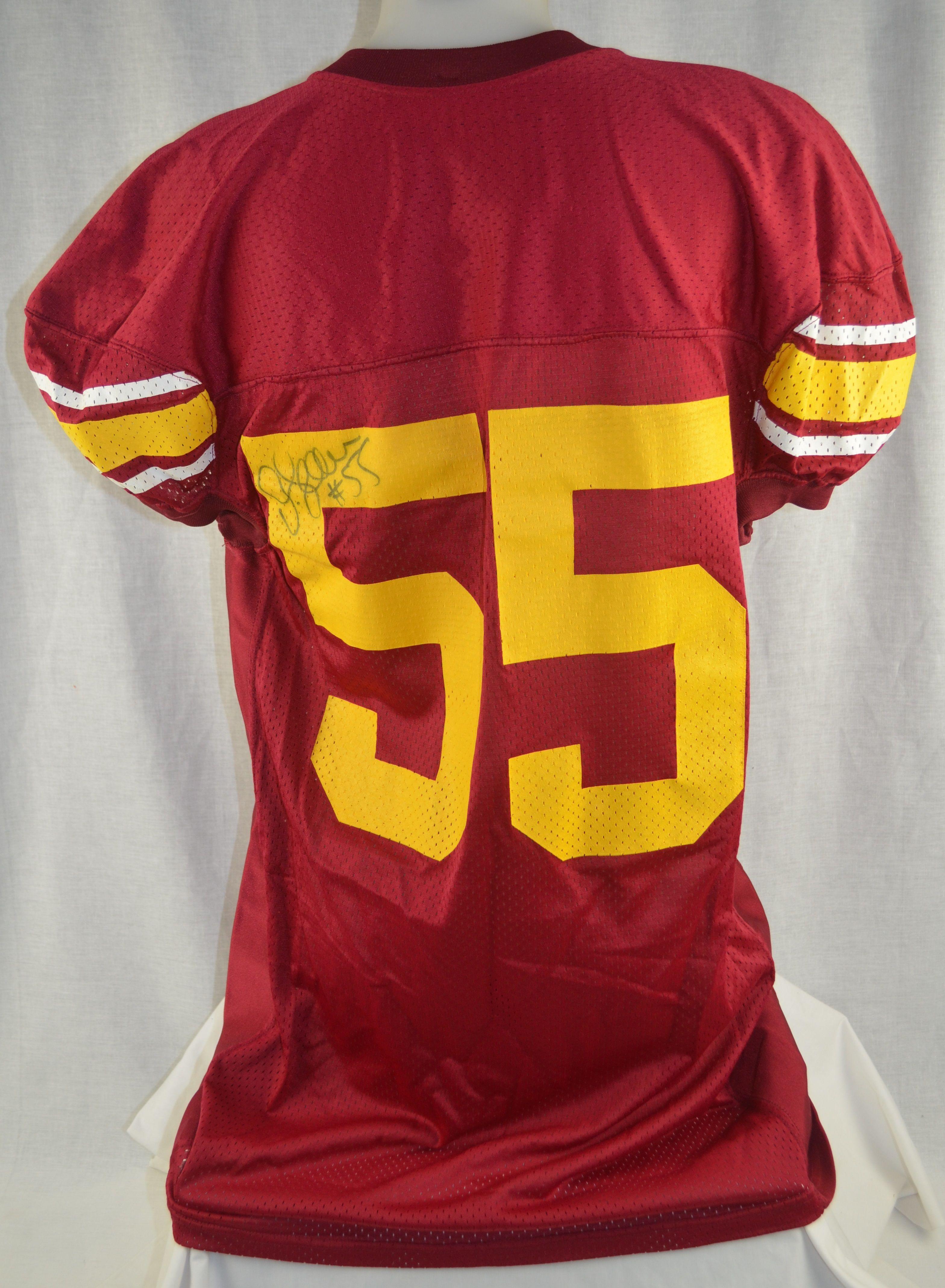 wholesale dealer 9e0cc 4f7ee Lot Detail - Junior Seau USC Trojans Autographed Jersey