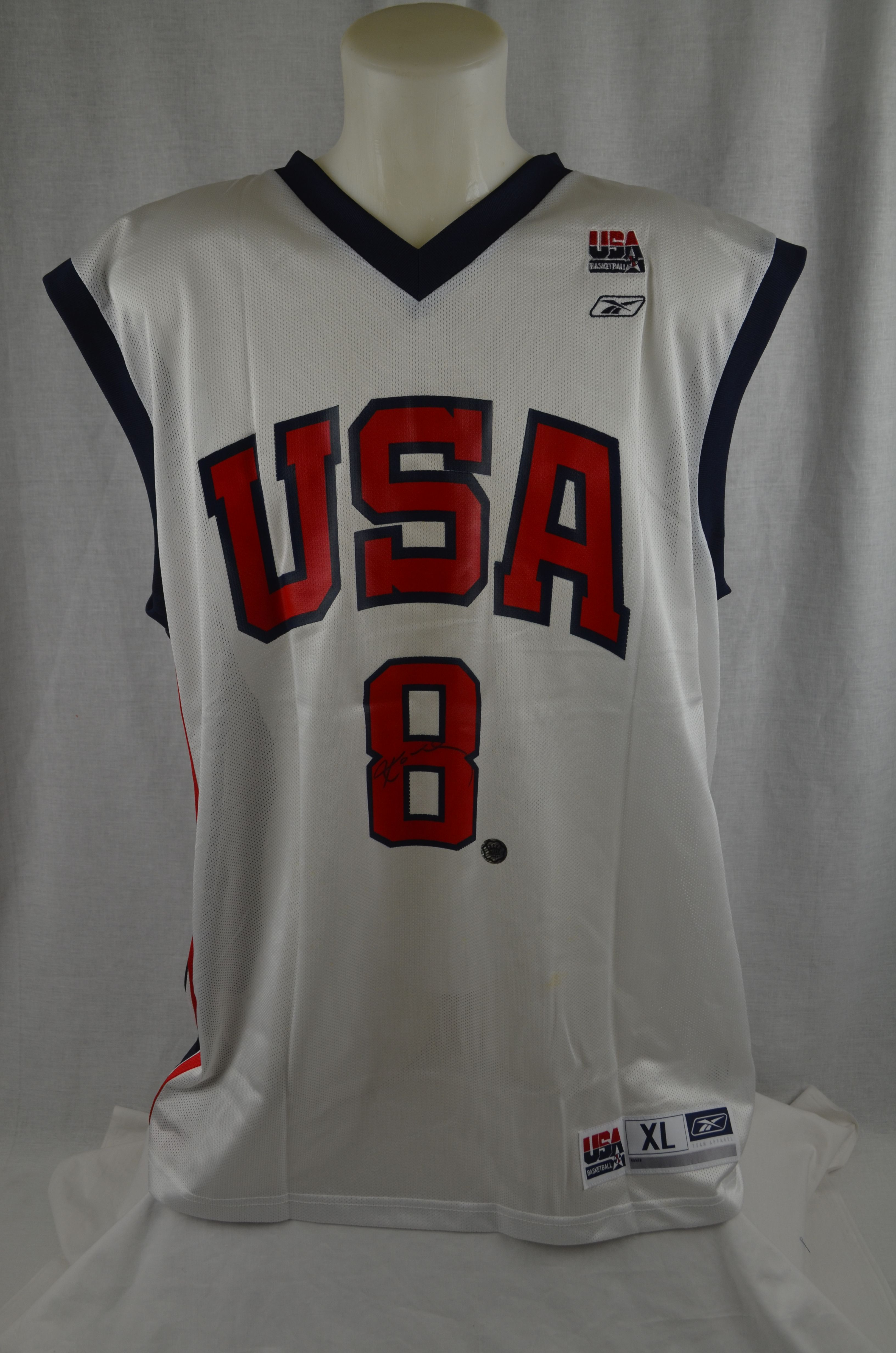 half off abf8d 9fb98 Lot Detail - Kobe Bryant 2004 USA Olympic Games Autographed ...