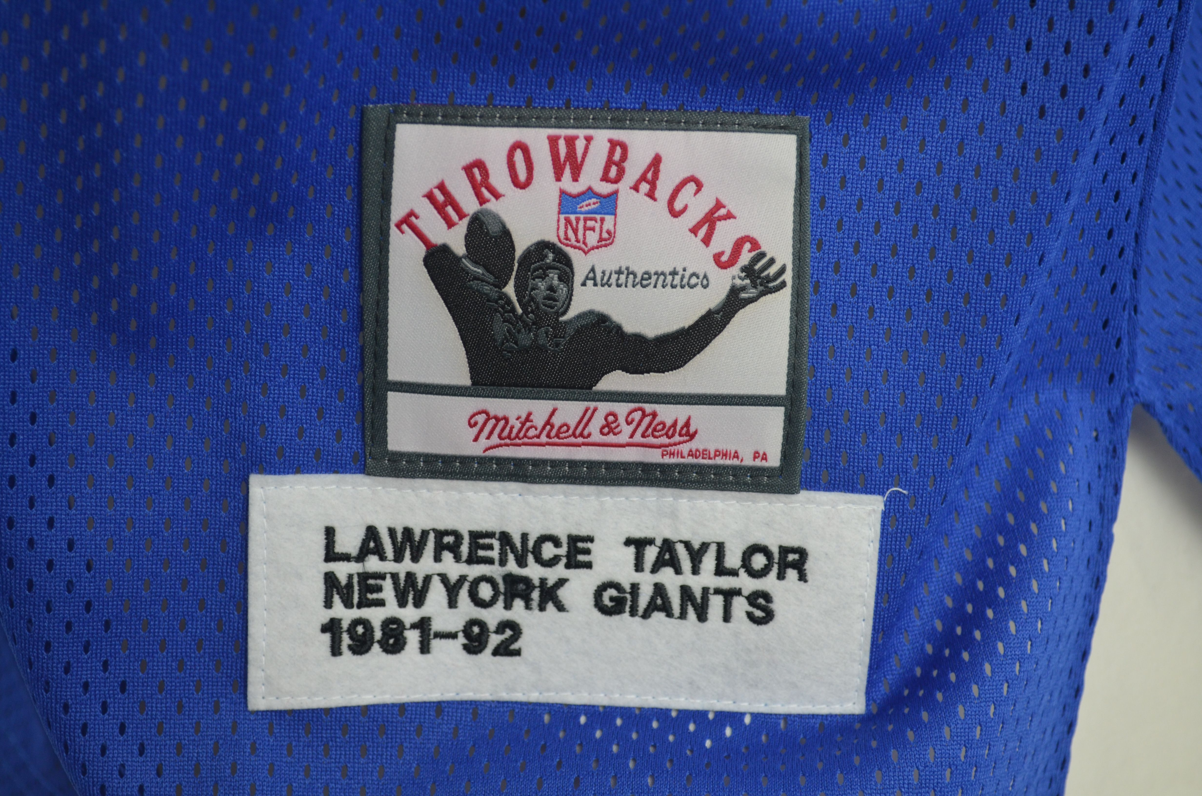 hot sale online ee486 e57df Lot Detail - Lawrence Taylor New York Giants Mitchell & Ness ...