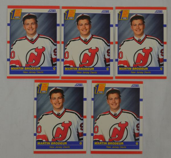 Martin Brodeur 1990 Score Collection Of 5
