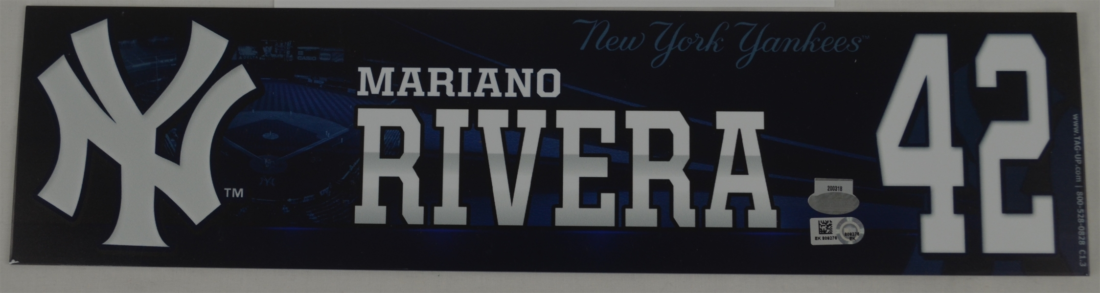 Lot Detail Mariano Rivera Locker Room Name Plate From