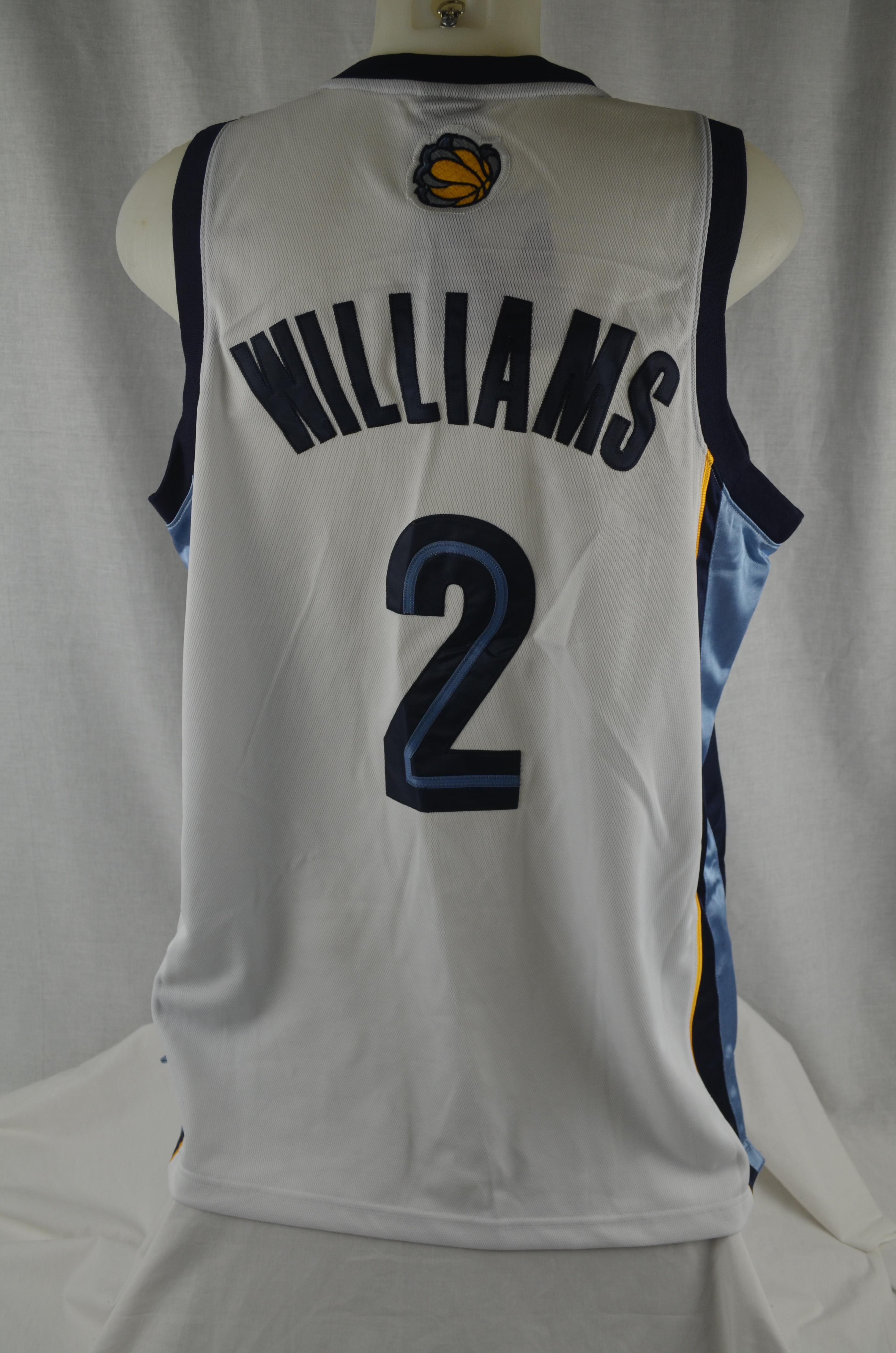 7836dce0c5c1 Jason Williams Memphis Grizzlies Authentic Reebok Basketball Jersey ...