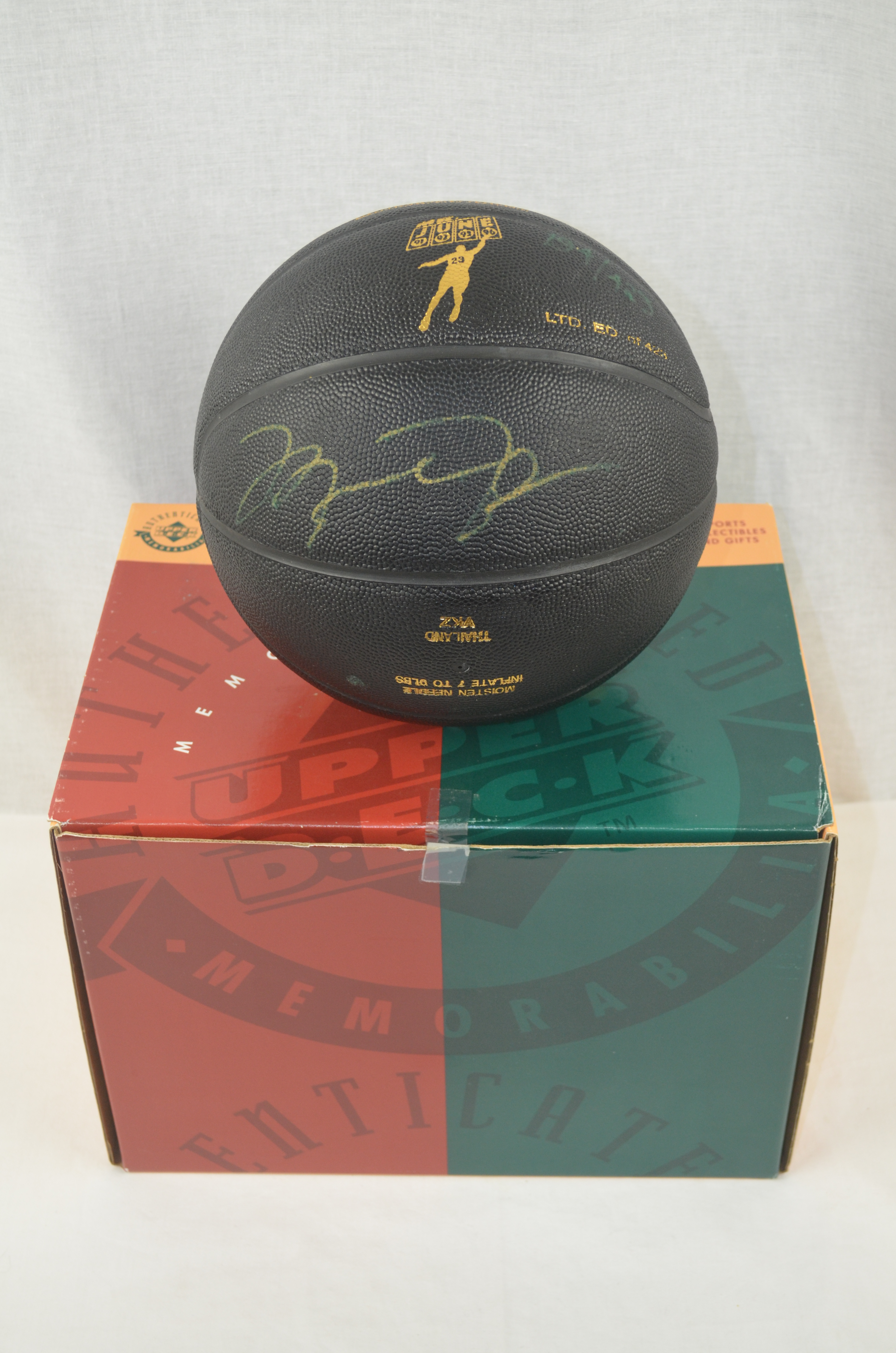 4ea282e99d7 Michael Jordan Autographed Mr. June Limited Edition UDA Basketball  193 423  ...