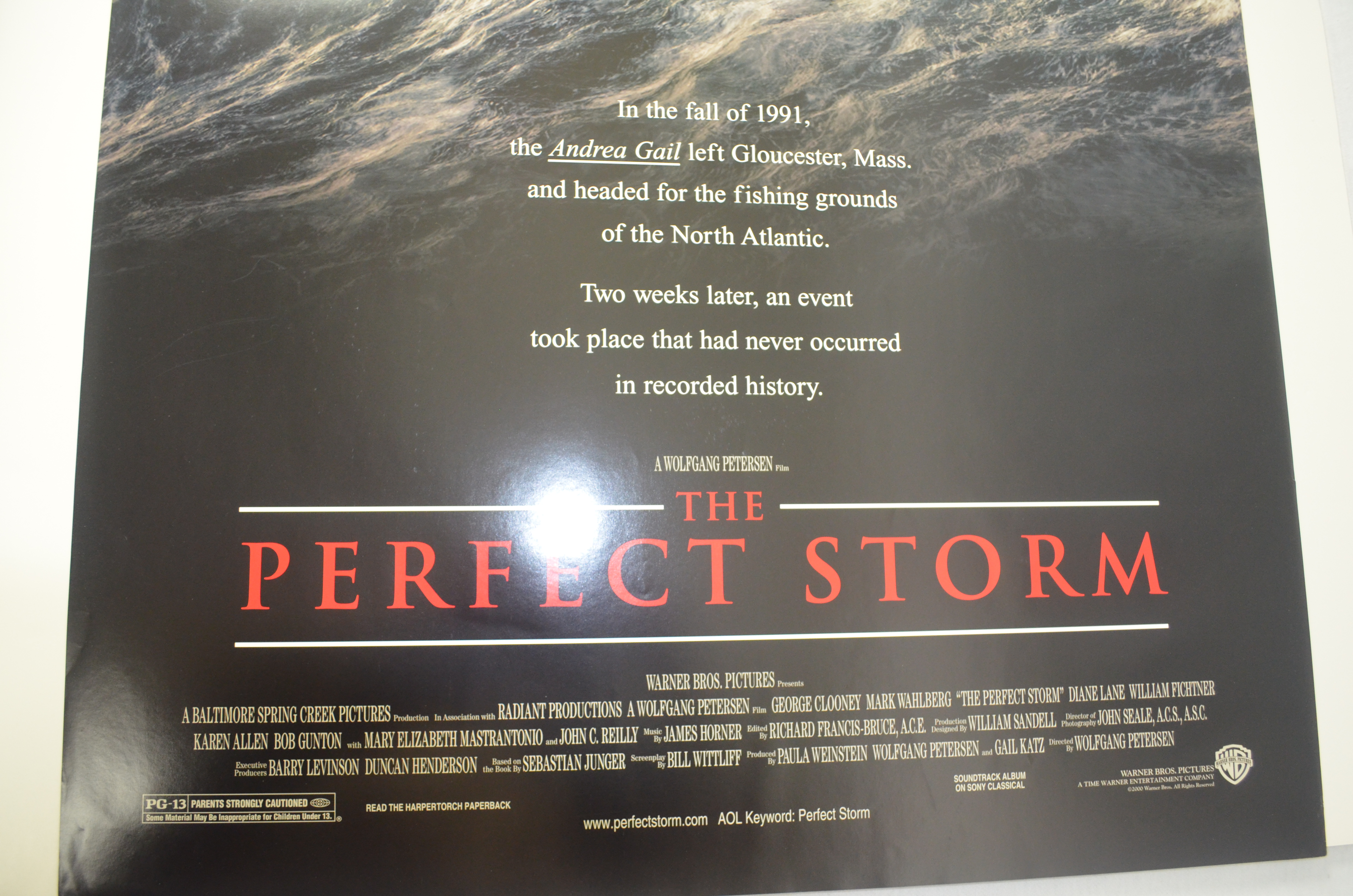 """Movie Posters 2000: """"The Perfect Storm"""" 2000 Original Movie Poster"""