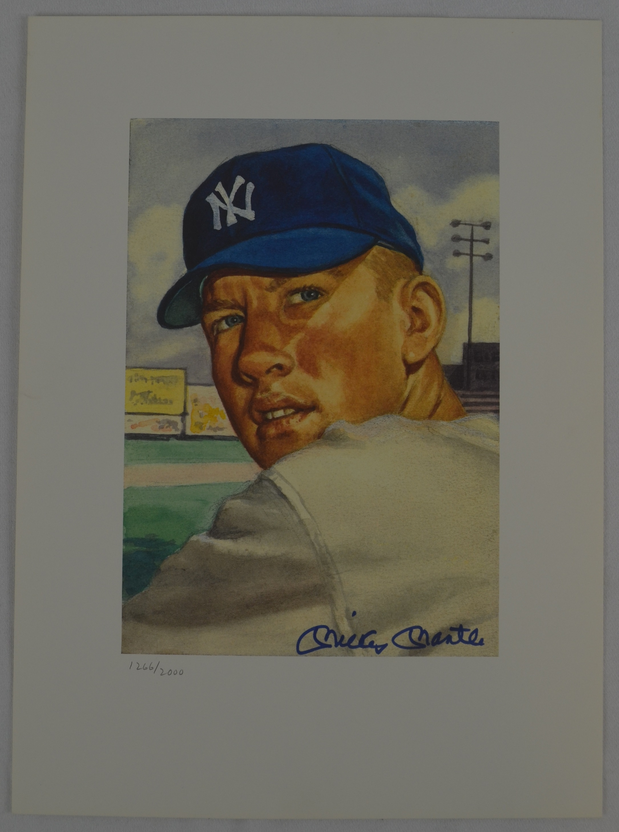 Lot Detail Mickey Mantle Autographed 1953 Topps Limited Edition