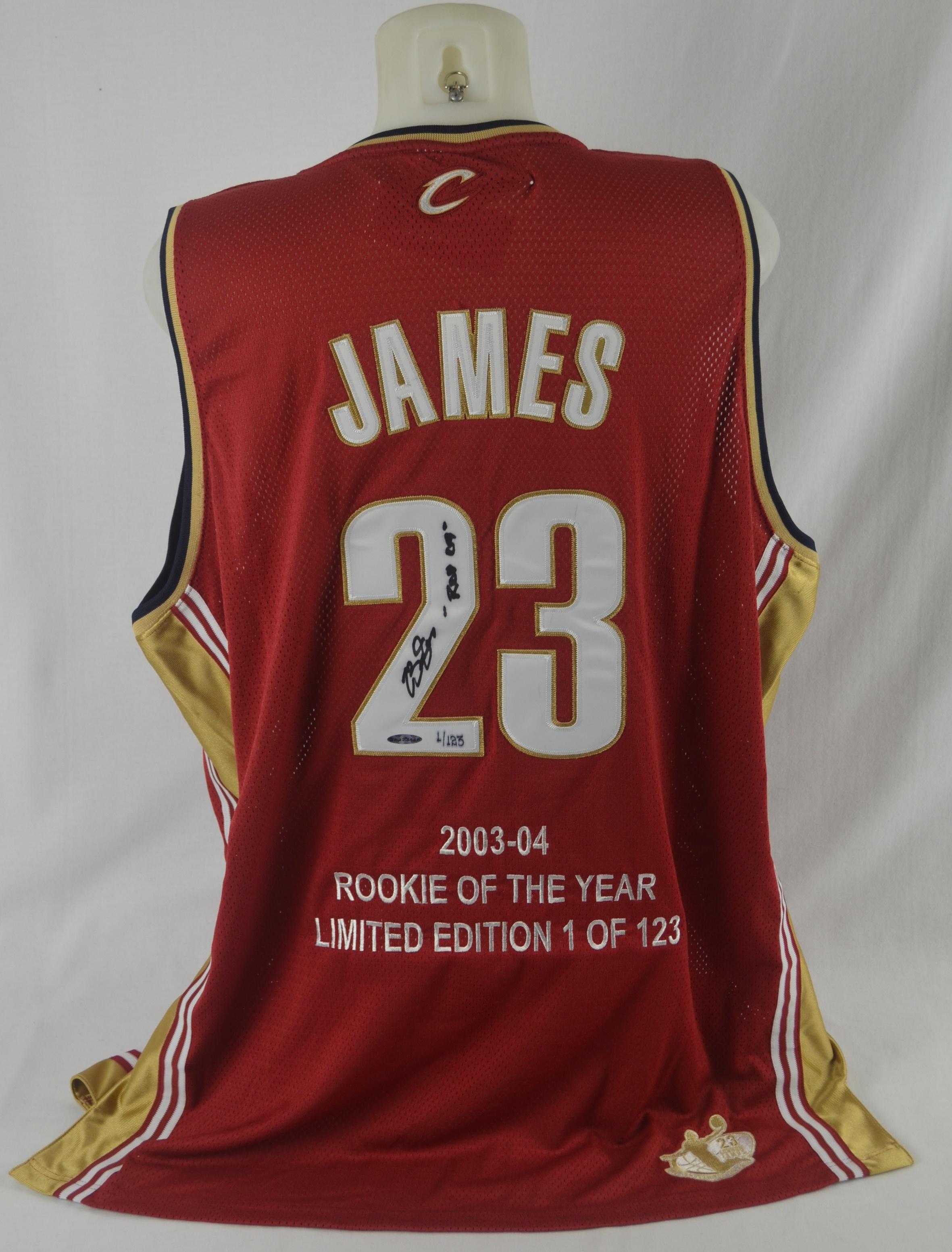 huge discount d0380 26b1d Lot Detail - LeBron James Autographed Limited Edition 2004 ...