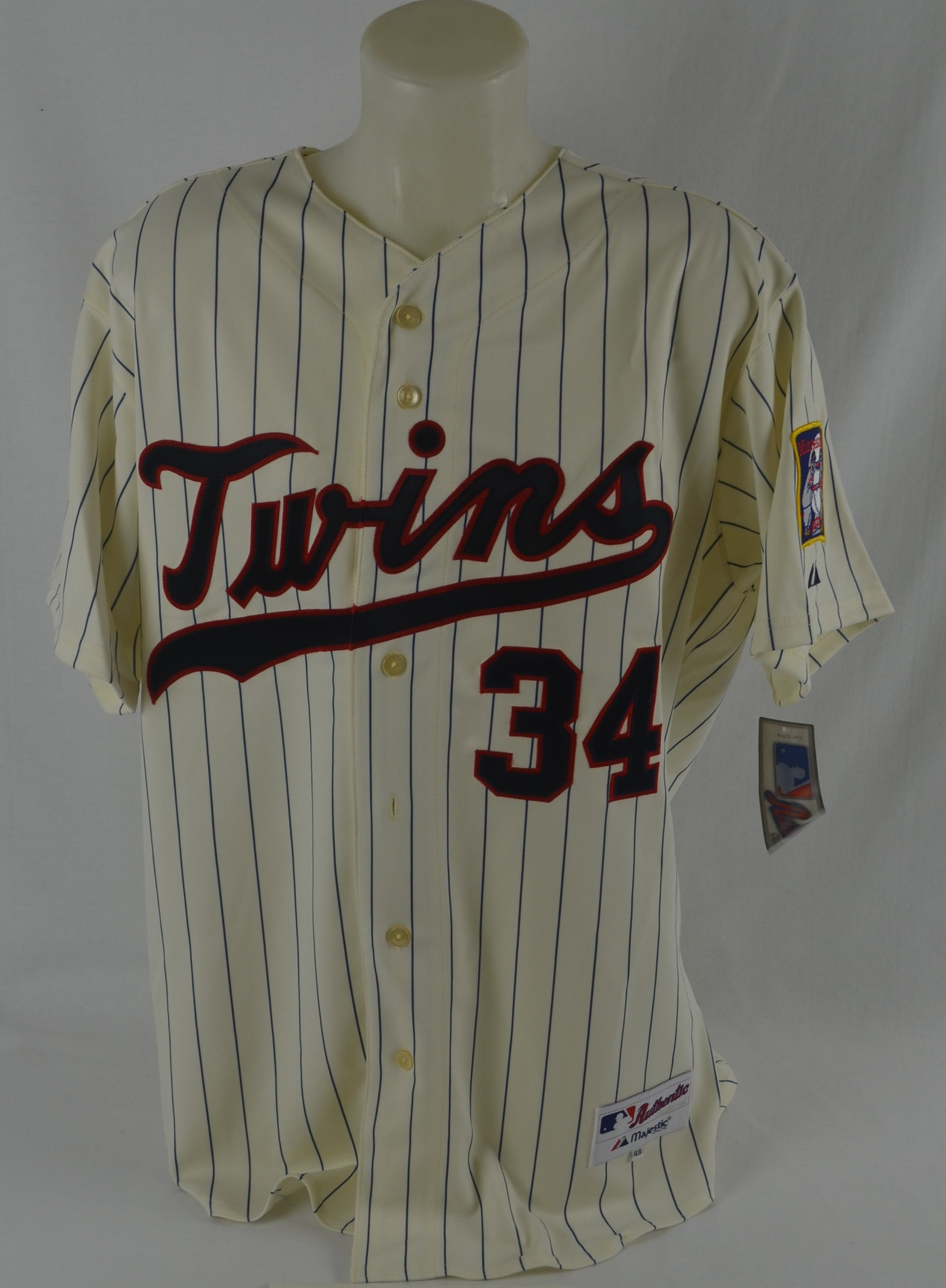 d66c1814400 Lot Detail - Kirby Puckett Autographed 1987 World Series Throwback ...