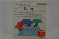 Vintage 1989 Unopened Apple Macintosh Full Impact Program
