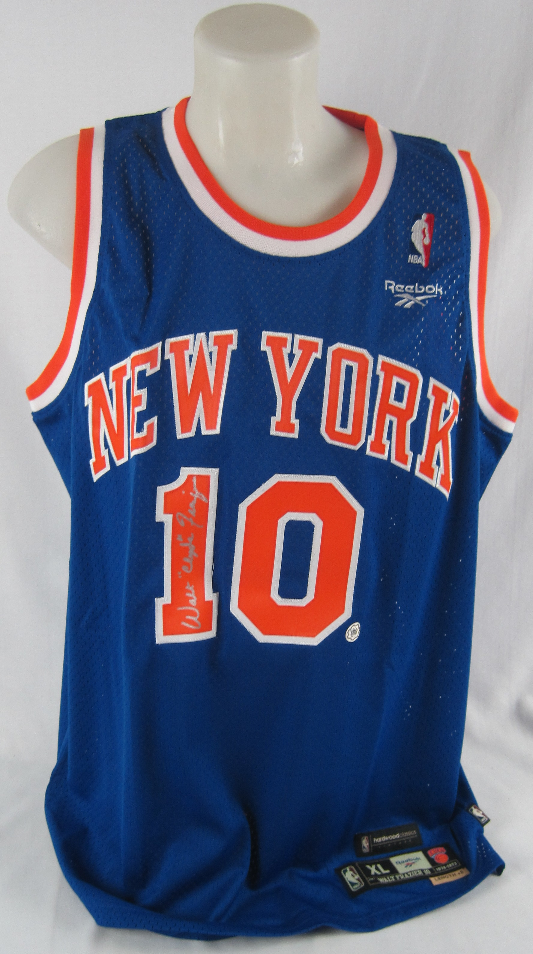 brand new e57de e572f Lot Detail - Walt Frazier Autographed New York Knicks Jersey