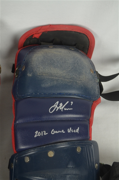Joe Mauer 2012 Professional Model Catcher's Gear w/Heavy Use & Ironclad LOA