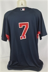 Joe Mauer 2007 Minnesota Twins Signed & Inscribed Professional Model Jersey w/Medium Use