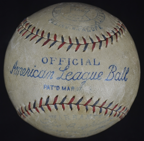 Babe Ruth & Lou Gehrig Dual Signed Ban Johnson Baseball