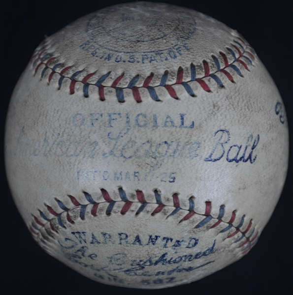 Babe Ruth Autographed Baseball Signed May 10th 1930