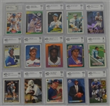 Collection of 25 Rookie Cards Graded BCCG 10