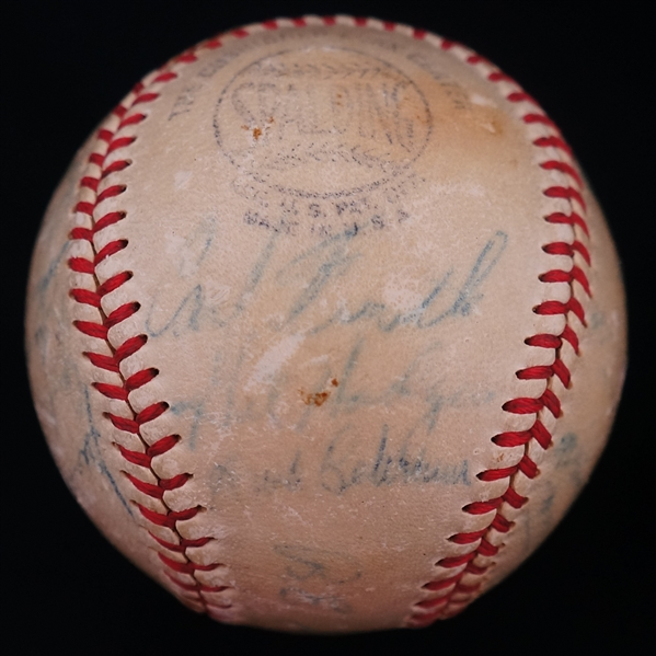 Brooklyn Dodgers 1948 Team Signed Baseball w/Jackie Robinson