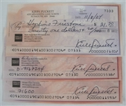 Kirby Puckett Lot of 3 Signed Checks