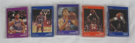 NBA Collection of 5 Limited Edition 1990 Star Co Gold Sets
