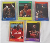 NBA Collection of 5 Limited Edition 1990 Star Company Slam Card Sets