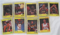 NBA Collection of 9 Limited Edition 1990 Star Co Court Kings Card Sets