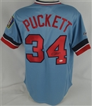 Kirby Puckett Twins Autographed 1984 Throwback Jersey