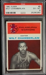 Wilt Chamberlain 1961 Fleer Rookie Card Graded PSA 6 EX/MT
