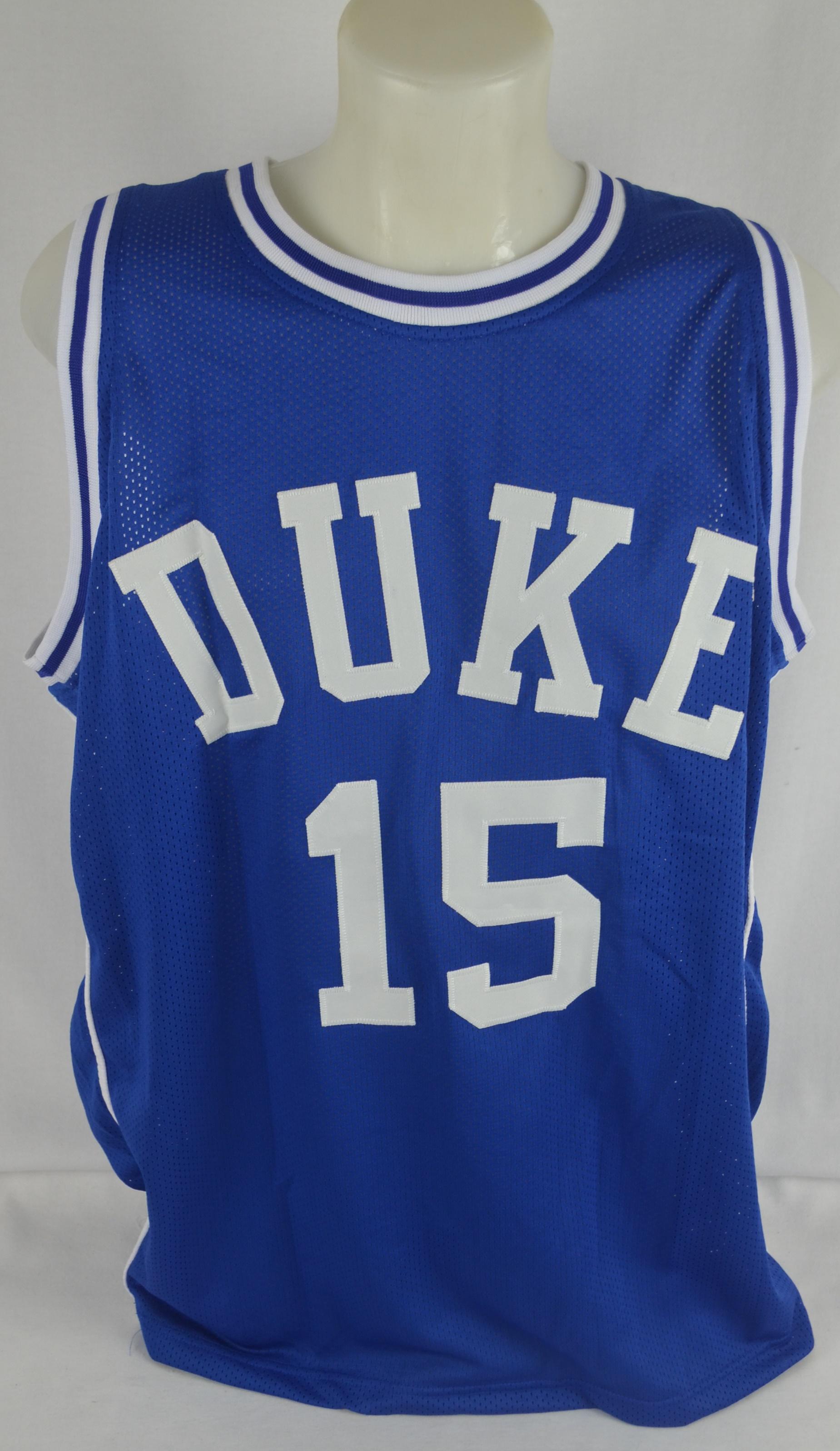 0fc93e22e773 ... Jahlil Okafor Autographed   Inscribed Duke Blue Devils Basketball  Jersey ...