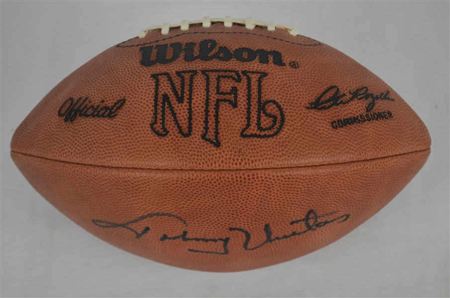 Johnny Unitas Autographed Football w/Full JSA LOA