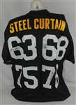 Pittsburgh Steelers Steel Curtain Autographed Jersey