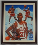 Michael Jordan Autographed Limited Edition Canvas Giclee